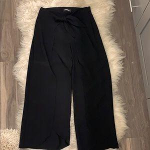Black Cropped Dress Pants